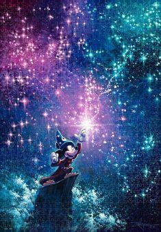 Jigsaw Puzzle Disney Sorcerer's Apprentice (1000 Pieces) Mickey Hands, Disney Paintings, Disney Artwork, Disney Drawings, Disney Fine Art, Disney Treasures, Value In Art, Art Portfolio, Canvas Artwork