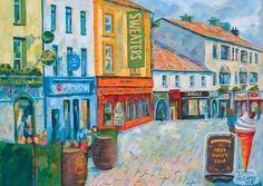 Galway painting. Print of painting. Ireland Irish art. Hight | Etsy