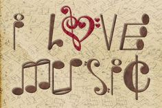 I Love Music sign.Concrete / Shape Poem this is a unique idea using musical symbols to create words in English Sound Of Music, Kinds Of Music, Music Is Life, My Music, Desi Music, Hippie Music, Music Den, Hippie Gypsy, Music Quotes