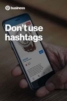 Your Pin's description plays an important role in catching someone's eye. Instead adding a bunch of hashtags, write a thoughtful and clear description that includes the most compelling and distinct parts of your product.