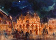 Venice Evening by JWS Cox (1911-1982)