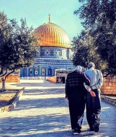 Al-Aqsa Mosque,The dome of the rock - Jerusalem, Palestine Palestine Art, Palestine History, Muslim Family, Muslim Couples, Israel, Motivational People, Places To Travel, Places To Visit, Dome Of The Rock