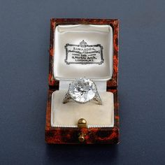 Shreve, Crump & Low 8.94 ct Edwardian diamond engagement ringFeature a very lively Old European diamond ring, the gallery is decorated with diamond and heart shape filagree on diamond shankSigned SC PLAT14 old mine cut diamonds weight approx. 0.35 ctWeight 4.1 dwtRing size 6 1/2