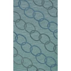 Dalyn Rug Co. Bella Blue Blue Area Rug Rug Size: 3' x 5'