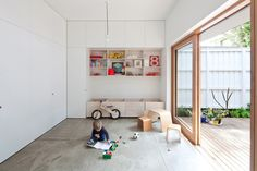 I like the Fibre cement sheet floor of House Eadie by Tribe Studio