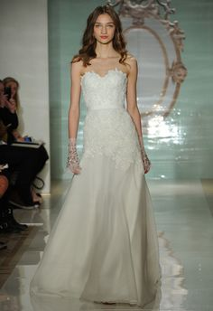 This gown is perfect for a more classic bride. Reem Acra Spring 2015 | Bridal Fashion Week MCV Photo/The Knot blog