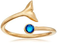 Alex and Ani Ring Wrap, Whale Tail, Stackable Ring, Size 5-7 -- Continue to the product at the image link.