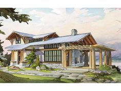 My favorite Little House Company plan. 1100 sqft!  The Hawthorn - Back