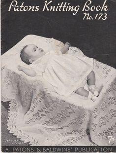 Paton's & Baldwins  Knitting Pattern No 173 For by jennylouvintage