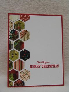 CAS241 Christmas Hexagons by suen - Cards and Paper Crafts at Splitcoaststampers