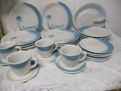 Vintage Jackson China Restaurant Ware SAMBOS Diner Style Dinnerware Set of 29