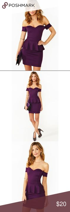 Nasty Gal Elle Peplum Dress Nasty Gal Elle Peplum Dress in purple. Perfect conditions! Only worn twice. Looks absolutely gorgeous on! Nasty Gal Dresses