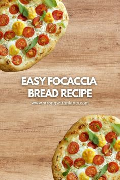 This quick and easy, oil-free and vegan Focaccia Bread recipe is cooked only using my air-fryer! #veganbread #quickveganrecipes #easyveganrecipes #nobakebread #oilfreebread #easybreadrecipes Quick Vegan Meals, Quick Recipes, Vegan Recipes Easy, Vegetarian Recipes, Easy Focaccia Bread Recipe, Tasty Bread Recipe, Bread Recipes, Plant Based Breakfast, Vegan Bread