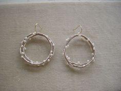 ogiso rev fiber & leather earrings Leather Earrings, Beaded Earrings, Earrings Handmade, Beaded Jewelry, Crochet Earrings, Handmade Jewelry, Hoop Earrings, Jewellery, Tatting Lace