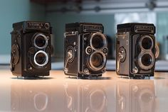 Twin-lens Reflex Camera (TLR) – A TLR, as its name implies, is a camera with two lenses on the front. The lenses share the same focal length and are often connected to focus simultaneously. The reason for the additional lens is simply for the viewfinder system, which brought about several benefits (over single-lens reflex cameras) such as a continuous image on the finder screen, and a less-noticeable shutter lag. For our purposes today, TLRs are important because they make particularly…