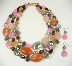 T's Accessories - Multicolored Mixed Beads Necklace Set, $42.00 (http://www.tsaccessories.com/multicolored-mixed-beads-necklace-set/)