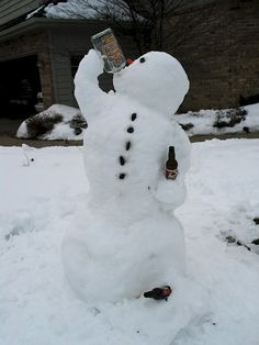 Winter.  Snowman