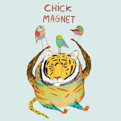 Chick Magnet Greeting Card $6.95  #humour #card #lalaland