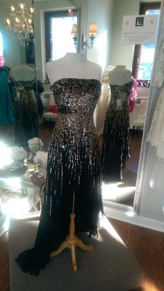 Sherri Hill  Black and Metallic Sequins sz. 10 $185.00