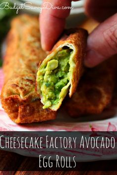 Cheesecake Factory Avocado Egg Rolls Recipe | Budget Savvy Diva This is a smashed up version. Still need the dipping sauce recipe.