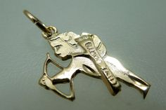 Cupid Charms/Pendants Gold Plated Valentine Charms by Beadgarden55, $8.00