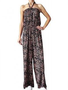 F&F - CZARNY  KOMBINEZON W KWIATKI - 48 Jumpsuit, Dresses, Fashion, Overalls, Vestidos, Moda, Fashion Styles, Jumpsuits, Catsuit