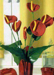 Цветочное вязание