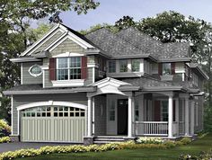 Eplans Craftsman House Plan - Sun-Lit Balcony Overlooks Foyer - 3235 Square Feet and 3 Bedrooms from Eplans - House Plan Code HWEPL55302