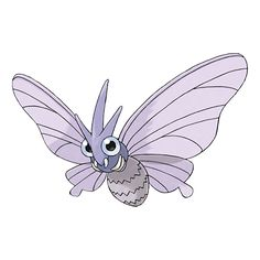 Venomoth - 049 - The scales it scatters will paralyze anyone who touches them, making that person unable to stand. The wings are covered with dustlike scales. Every time it flaps its wings, it looses highly toxic dust.  @PokeMasters