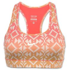 Nike Pro Compression Printed Women's Sports Bra. Only because I like to look good when I work out once a month.