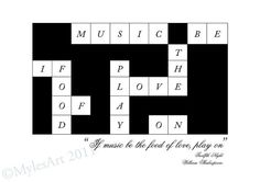 If music be the food of love play on by MylesArtprints on Etsy, £6.99