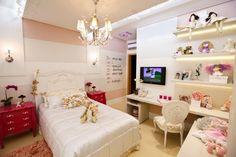 Decor Salteado - Blog de Decoração | Construção | Arquitetura | Paisagismo: Suíte da menina com estilo provençal e tema de princesa – maravilhosa! bedroom girl