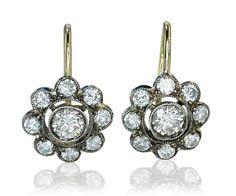 Diamond Earring   Diamant-Ohrringe Blüten mit Diamanten 1,40 ct als Ohrhänger