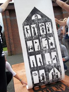 Cork tile print #1   Flickr - Photo Sharing! Love this idea of a group project