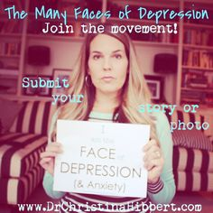 """I present """"The Many FACEs of DEPRESSION"""" Movement. My hope is that you will join me. My hope is that we can give depression a face and a voice. My hope is that one day we can stop the stigma of depression. Mental Health Resources, Mental Health Care, Stop The Stigma, Awareness Campaign, Dbt, Life Happens, Many Faces, Healthy Relationships, Your Story"""