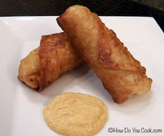 Shrimp mini eggrolls, I'm using wonton wrappers.