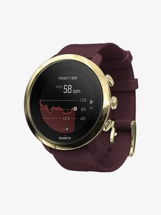 Shop Suunto 3 Fitness Activity Tracker + Heart Rate Burgundy at Best Buy. Find low everyday prices and buy online for delivery or in-store pick-up. Led Display Screen, Clock Display, Fitness Activity Tracker, Fitness Activities, About Me Activities, Simple Watches, Best Buy Store, Heart Rate Monitor, Aktiv