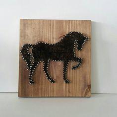 Cadena regalo arte caballo único para caballo amante rústico