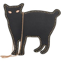 Critter on the Dance Floor Bag (890 MXN) ❤ liked on Polyvore featuring bags, handbags, purses, cat, modcloth, party purses, purse pouch, cat pouch, man pouch bag and man bag