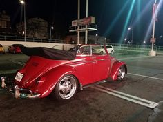Roger Castillo, from Los Angeles, California, U.S.A. Member of Das Infamous VW Car Club, SoCal. Presented on Facebook at: https://facebook.com/roger.castillo.5473 His 1962 Ruby Red VW Convertible, all original with original 58000 miles. 6inch narrow beam with disc brakes. 1300 original engine and transfer. The interior is clean. 17 inch rims.