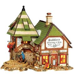 $103.50-$115.00 Department 56 Dickens Village Wilkenson & Kidd Saddlery - This lit building is hand painted and included a switched cord and bulb. Designed and manufactured exclusively for Department 56. http://www.amazon.com/dp/B00141P3OM/?tag=pin2wine-20