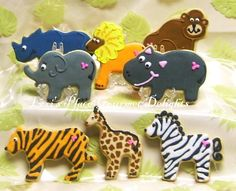 Reserved for Lindsay----Zoo Animal Decorated Cookie Favors - Zoo Cookies - 16 cookies Summer Cookies, Fancy Cookies, Iced Cookies, Easter Cookies, Birthday Cookies, Heart Cookies, Valentine Cookies, Christmas Cookies, Butterfly Cookies