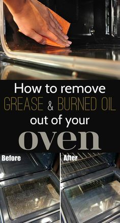 Learn how to remove grease and burned oil out of your oven.