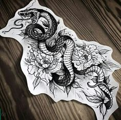 But a cobra and crunched up a bit tail wrapped towards my back Sketch Tattoo Design, Tattoo Sketches, Tattoo Drawings, Tattoo Designs, Dream Tattoos, Future Tattoos, New Tattoos, Body Art Tattoos, Cool Tattoos
