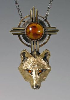 Timber Wolf Jewelry Handcrafted Bronze Pendant