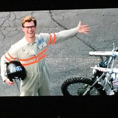 Watching all of the #Ghostbusters special features! I love @chrishemsworth as Kevin.