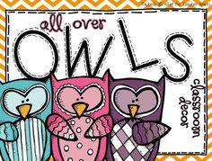 What the Teacher Wants!: All Over Owls {Classroom Decor}