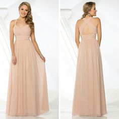 This chiffon bridesmaid dress is exquisite!