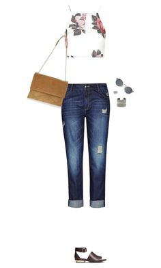 """""""How to Style a Floral Crop Top"""" by outfitsfortravel ❤ liked on Polyvore featuring Topshop, City Chic, H&M, Lanvin, David Yurman, Whistles, Raga and plus size clothing"""