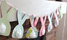 Festão de coelhinhos da Páscoa